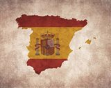 Map with Flag Overlay Spain