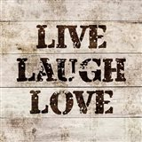 Live Laugh Love In Wood