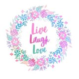 Live, Laugh, Love-Pastel