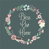Bless Our Home Floral Teal