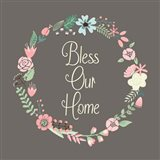 Bless Our Home Floral Brown