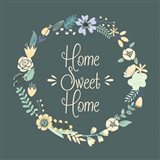 Home Sweet Home Floral Teal