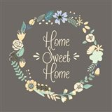 Home Sweet Home Floral Brown