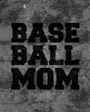 Baseball Mom-Gray