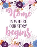 Home Is Where Our Story Begins-Pink Floral