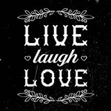 Live Laugh Love-Black