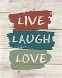live Laugh Love-Wood