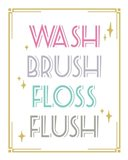 Wash Brush Floss Flush Shark Pink Part II