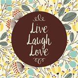 Live Laugh Love Retro Floral White