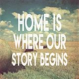 Home is Where Our Story Begins Bales of Hay