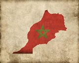 Map with Flag Overlay Morocco