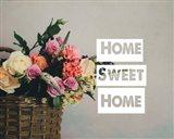 Home Sweet Home Flower Basket Color