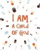 I Am A Child Of God Radial Dots Orange