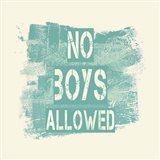 No Boys Allowed Grunge Paint Aqua