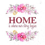 Home Is Where Our Story Begins-Magenta