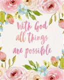 With God All Things Are Possible-Flowers