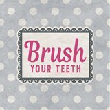 Brush Your Teeth Gray Pattern