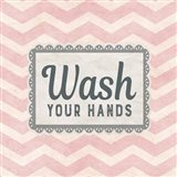 Wash Your Hands Pink Pattern