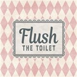 Flush The Toilet Pink Pattern