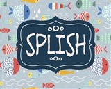 Splish and Splash Fish Pattern Blue Part I