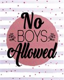 No Boys Allowed Stripes and Dots Pink