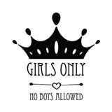 Girls Only Crown White
