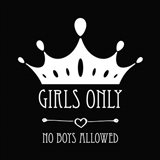 Girls Only Crown Black