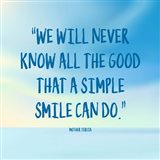 Simple Smile - Mother Teresa Quote (Blue)