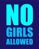 No Girls Allowed - Navy