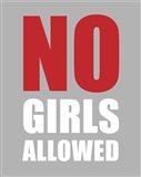 No Girls Allowed - Gray