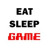 Eat Sleep Game - White