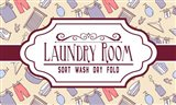 Laundry Room Sign Yellow Pattern