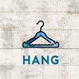 Laundry Sign White Wood Background - Hang