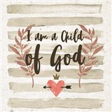 I am a Child of God Gray Stripes