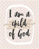 I am a Child of God Dot Pattern