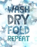 Wash Dry Fold Repeat Bubbles