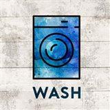 Laundry Sign White Wood Background - Wash