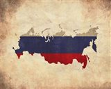 Map with Flag Overlay Russia