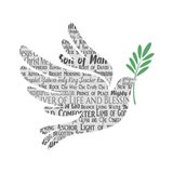 Names of Jesus Dove Silhouette White