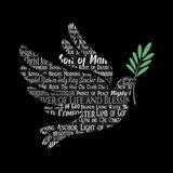 Names of Jesus Dove Silhouette Black