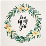 I'm A Gift From God Yellow Flower Wreath