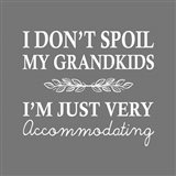 I Don't Spoil My Grandkids Leaf Design Gray