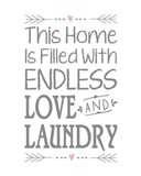 Endless Love and Laundry - White
