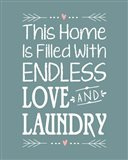 Endless Love and Laundry - Blue