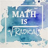 Math Is Radical Watercolor Splash Blue