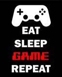 Eat Sleep Game Repeat  - Black