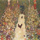 Garden Path with Chickens, 1916