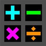 Math Symbols Square - Colorful Symbols