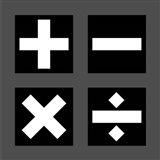 Math Symbols Square - Black
