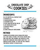 Chocolate Chip Cookies Recipe White Background